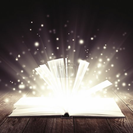 Open book with light insideout