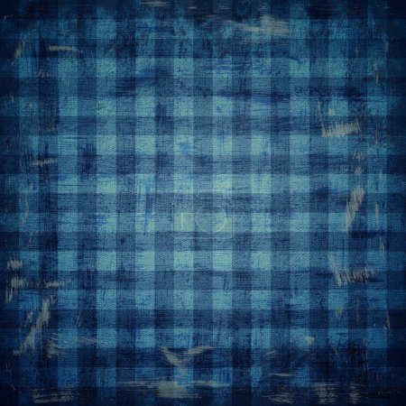 grunge illustration of checkered fabric pattern