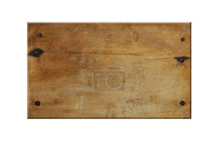 Photo pour Panneau en bois vide isolé sur fond blanc - image libre de droit