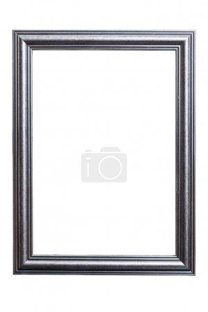 Photo pour Cadre vintage sur fond blanc avec chemin de coupe - image libre de droit