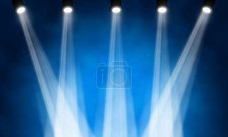 Photo for Bright stage spotlights - Royalty Free Image