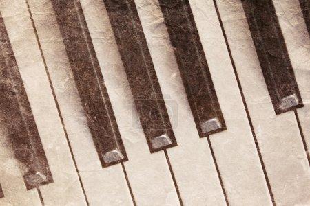 Vintage piano keyboard
