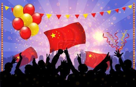 National Celebration Vector China