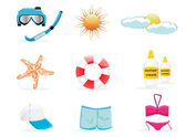 Summer icon set 2 vector