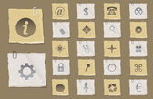 Old Paper Vector Icon Set 02