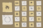 Old Paper Vector Icon Set 03