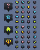 Dark Vector Icon Set 01