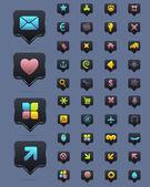 Dark Vector Icon Set 02