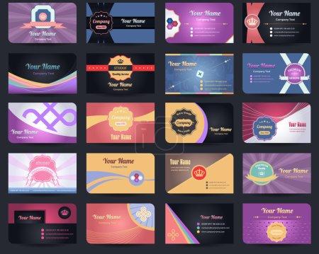 Ensemble vectoriel de conception de 20 cartes de visite premium - 04