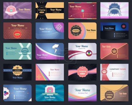 Ensemble vectoriel de conception de 20 cartes de visite premium - 03