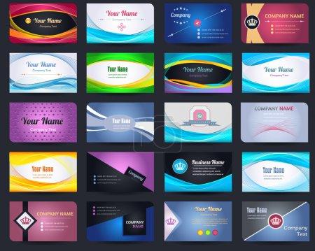 20 Premium Business Card Design Vector Set - 05