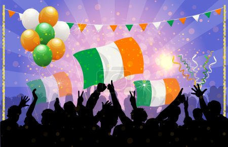 National Celebration Vector ireland