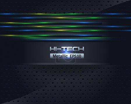 Green-Blue Hi-Tech Metallic Background Vector Design