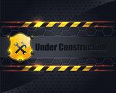 Under Construction Metallic Background Vector Design