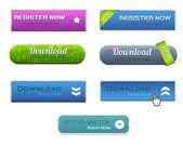 Web Elements Vector Button Set 01