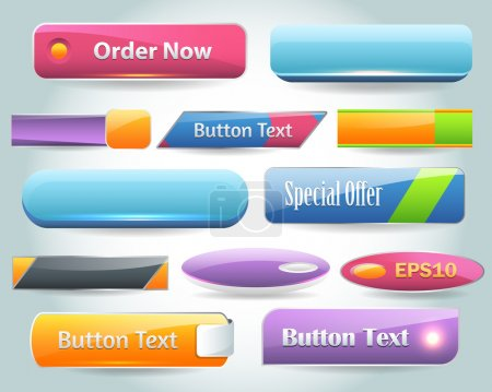 Illustration pour Vector Buttons - image libre de droit