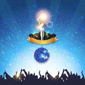 Shiny Disco Ball Party Background Vector Design