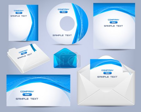 Corporate Identity Template Vector Design Ocean Style