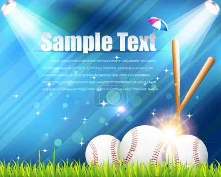 Baseball Theme Shiny Sky Vector Design