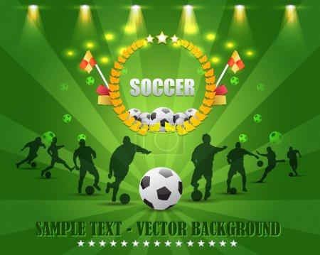 Football Background Template Vector Design