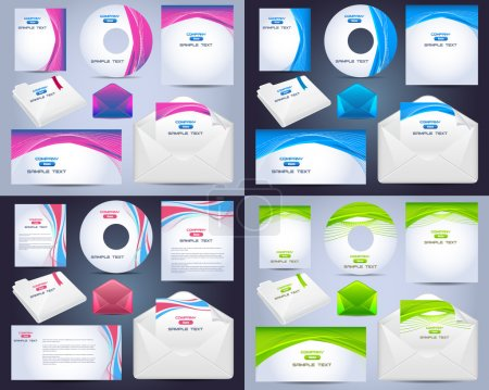 Corporate Identity Template Vector Design