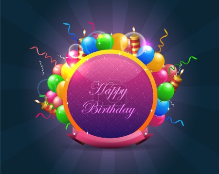 Abstract Birthday background vector