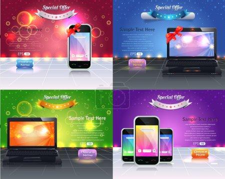 Web Banner Template Vector Design