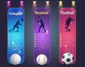 Sport Banner Vector Design