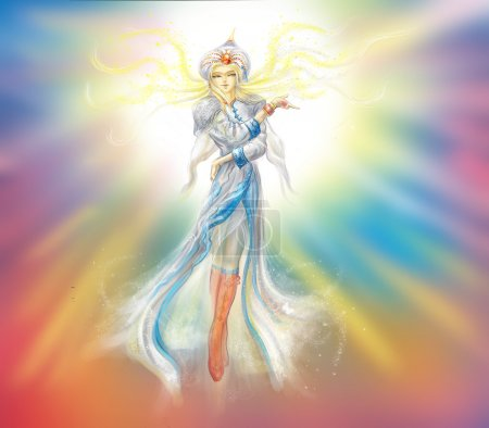 Photo pour Illustration personnage de conte de fées. Histoire Est - image libre de droit