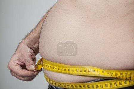 big belly of a fat man