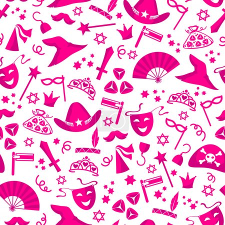 Illustration for Seamless pattern of costume party - Royalty Free Image