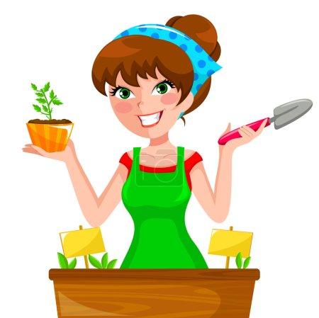 gardenning girl