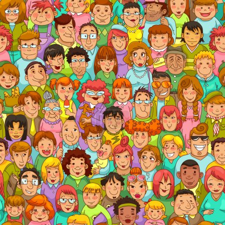 Cartoon people pattern