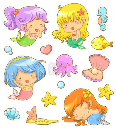Cute mermaids collection