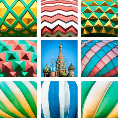 St. Basil Cathedral. Red Square in Moscow, Russia.