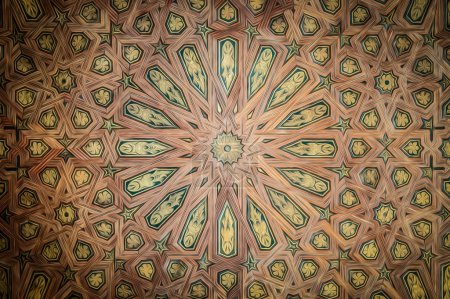 Ceiling in beautiful arabic style as background.