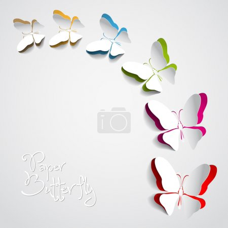 Photo for Greeting card with paper butterfly - Royalty Free Image