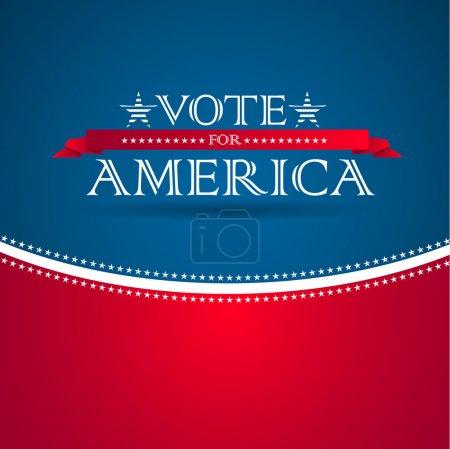 Photo pour Vote pour l'Amérique - affiche électorale - image libre de droit