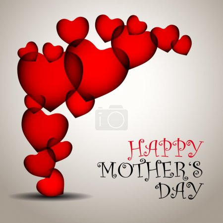 Happy mother day background with heart