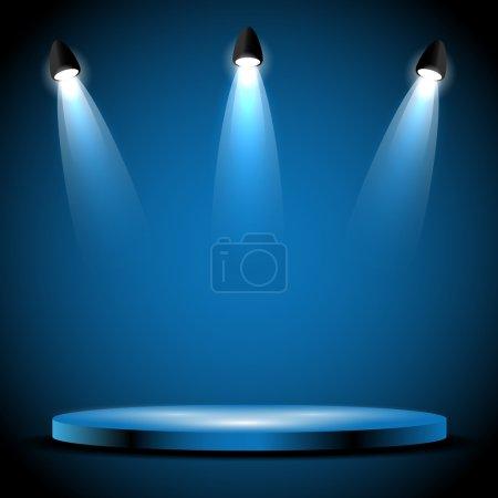 White spotlights on stage