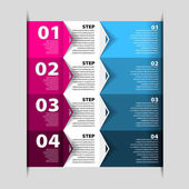 Modern Design template - numbered banners - Infographics for website layout vector