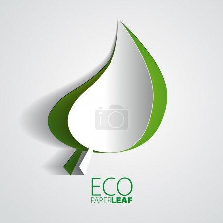 Illustration for ECO Paper Leaf - vector element for ecological design - Royalty Free Image