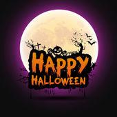 Happy Halloween message design background