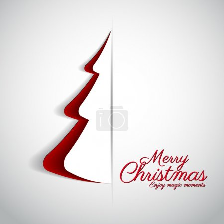 Merry Christmas design greeting card
