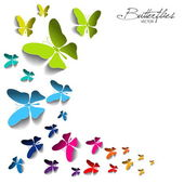 Card with paper butterflies