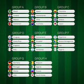 Soccer group stages poster vector illustration infographics