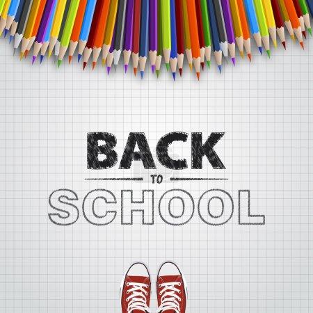 Illustration for Welcome back to school. Vector illustration. Card design - Royalty Free Image