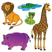 Wild animals collection 01 - vector illustration