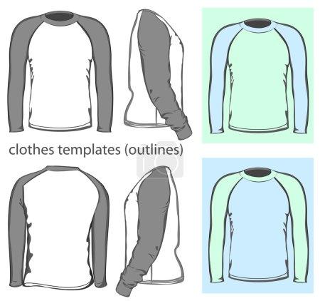 Men's t-shirt long raglan sleeve