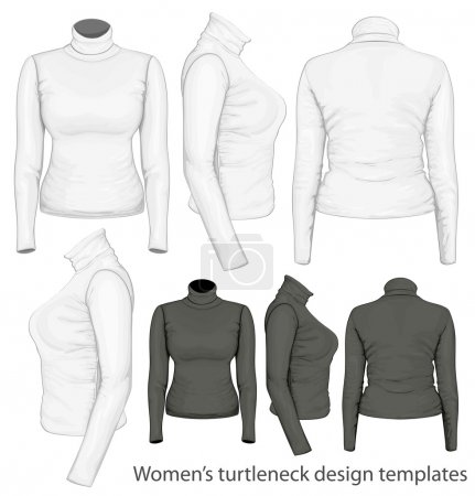 Women's turtleneck design templates